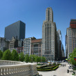 Stock Photo: Chicago Millennium Park at East Madison