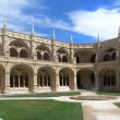 cloister of jeronimos monastery — Stock Photo