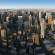 Aerial panoramic view over Manhattan — Stock Photo #2475738