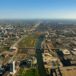 Stock Photo: South Chicago aerial view