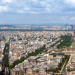 Paris aerial panorama - Stock Photo