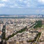 Paris aerial panorama — Stock Photo