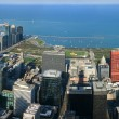 Chicago Millennium Park aerial panorama — Stock Photo