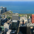 Stock Photo: Chicago Millennium Park aerial panorama