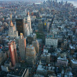 Aerial view over lower Manhattan - Foto Stock