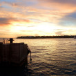 Key West sunset panorama — Stock Photo