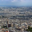Stock Photo: Paris north aerial panorama