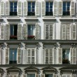 Building facade in Paris - Stock Photo
