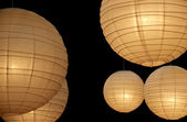 Balloon paper lamps horizontal — Stock Photo