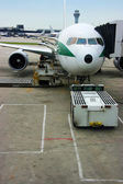 Airliner parked at gate — Photo