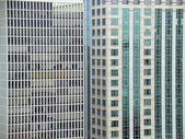 Highrise buildings background — Stock Photo
