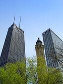 Chicago water tower et centre de hancock — Photo