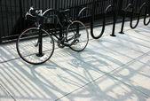 Chained bike — Stock Photo