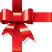 Shiny red ribbon — Stock Photo