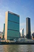 NYC UN Headquarters vertical — Stock Photo