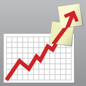 Business chart up — Stock Photo
