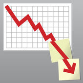 Business chart down — Stock Photo