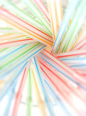 Abstract drinking straws — Stock Photo