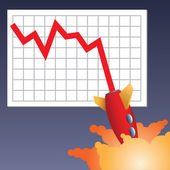 Business chart crashing down — Stock Photo