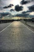 Taras na dachu w paryżu — Zdjęcie stockowe