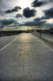 Terraza en la azotea en parís — Foto de Stock