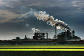 Industrial plant smoke — Stock Photo