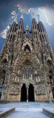 Sagrada Familia vertical panoramic view — Foto de Stock