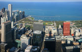 Chicago Millennium Park aerial panorama — Stock Photo