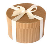 Round gift box — Stock Photo