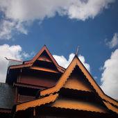 Teak house roof — Stock Photo