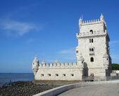 Belem tower on Tagus river — Stock Photo