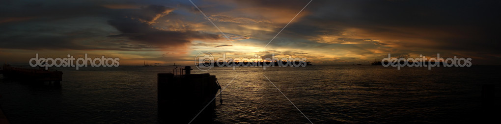 Panoramic sunset in Key West, Florida Keys  Stock Photo #2476123