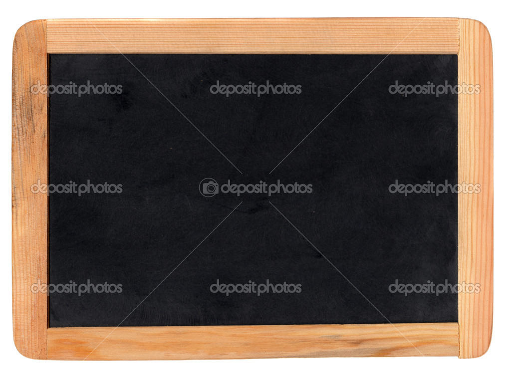 Small school wooden blank blackboard isolated on white background — Stock Photo #2476315