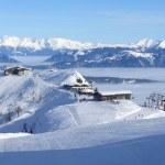 Ski resort panorama — Stock Photo