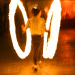 Fire juggler — Stock Photo