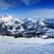 Ski resort panorama - Stock Photo