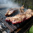 Ribs on the barbecue — Stock Photo