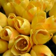 Fake yellow tulips — Stock Photo