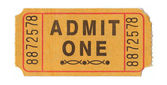 Vintage admission ticket — Stock Photo