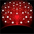 Valentine decorative card with tree - Stock Vector