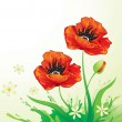 Royalty-Free Stock Imagen vectorial: Natural background with poppy