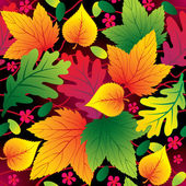 Autumn seamless background with leaf — Stock Vector