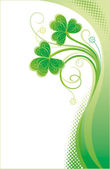 Background with shamrock — Stock Vector