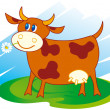 Vector de stock : Cute cow