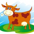 Cute cow — Stock Vector #2683204