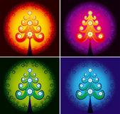 Christmas tree color vector — Stock Vector