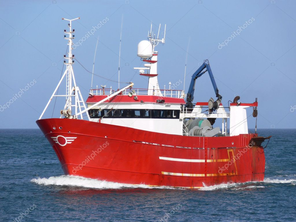 Fishing Vessel underway at sea. — Stock Photo #2285664