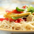 vegetable pasta — Stock Photo