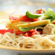 Vegetable Pasta - Stock Photo