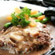 Burger Steak - Stock Photo